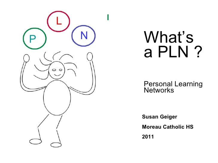 PLN Personal Learning Networks Susan Geiger [email_address] Internet librarian 2008 P L N
