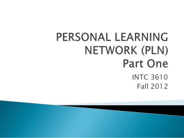 INTC 3610  Fall 2012