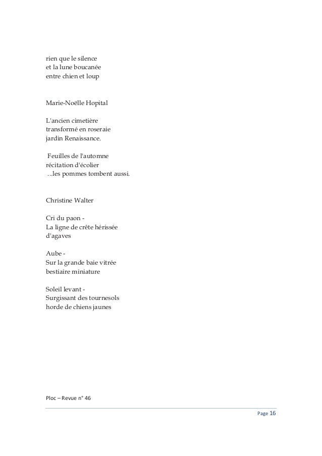 Ploc revue haiku numero 46 - Ecolier dans la lune ...