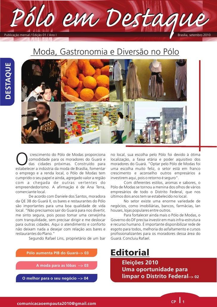 Pólo em Destaque Publicação mensal / Edição 01 / Ano I                                                                    ...
