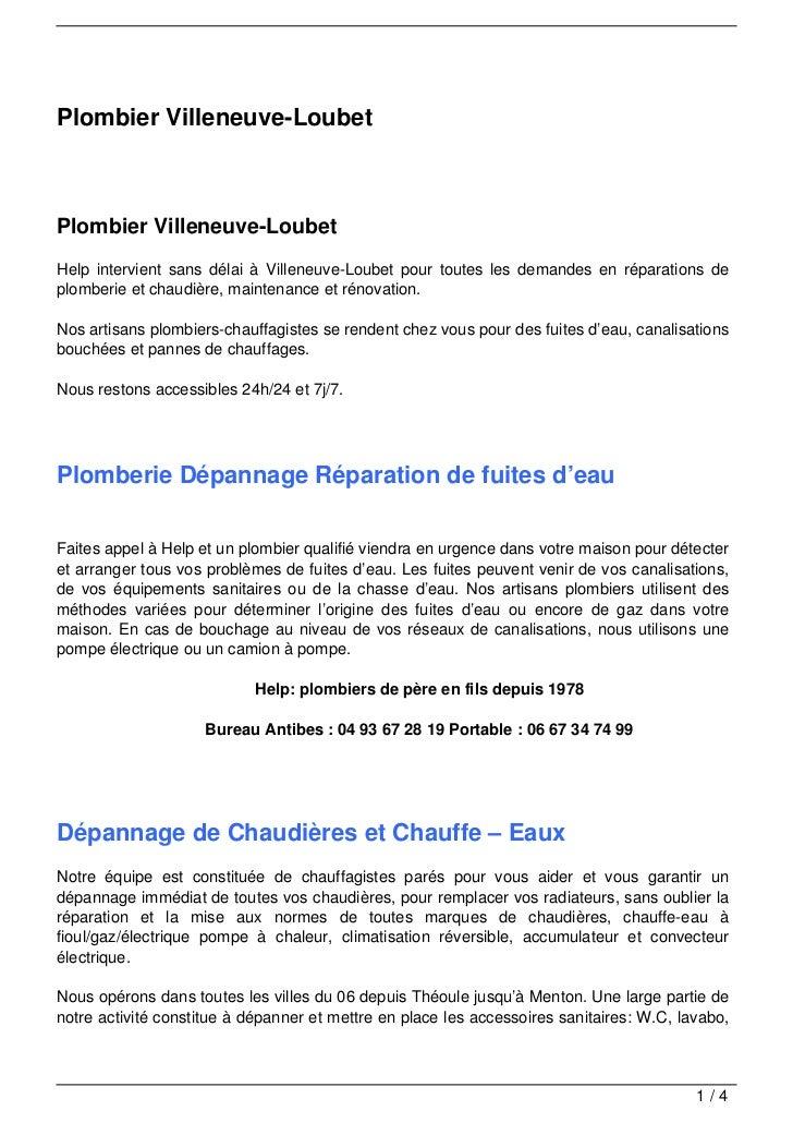 Plombier Villeneuve-LoubetPlombier Villeneuve-LoubetHelp intervient sans délai à Villeneuve-Loubet pour toutes les demande...
