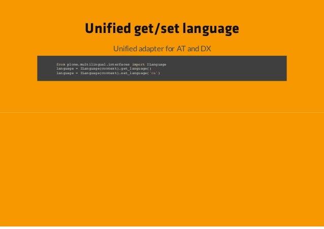 Unified get/set language             Unified adapter for AT and DXfo poemliiga.nefcsipr Iagae rm ln.utlnulitrae mot Lnugln...