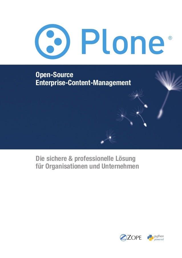 Die sichere & professionelle Lösung für Organisationen und Unternehmen Open-Source Enterprise-Content-Management