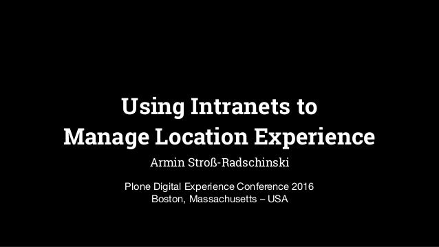 Using Intranets to 
