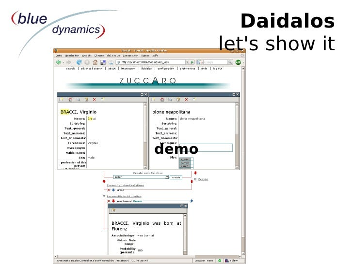 Plone Conference 2007 Naples: Lightning Talk Daidalos