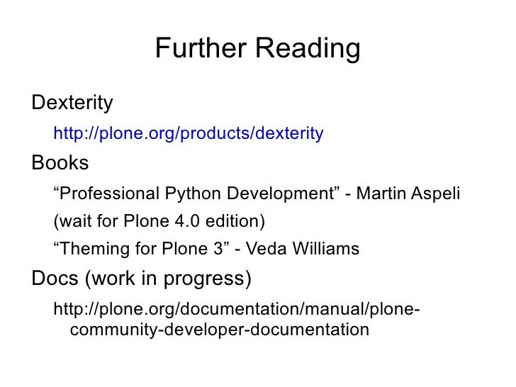 Plone for python programmers