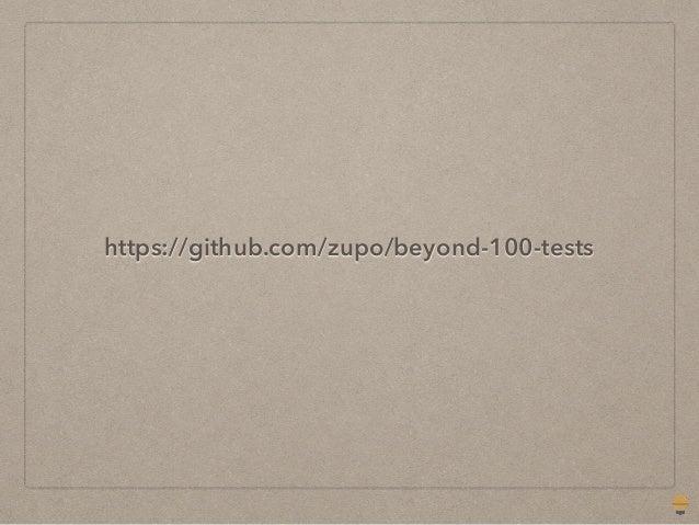 Beyond 100% test coverage Slide 2