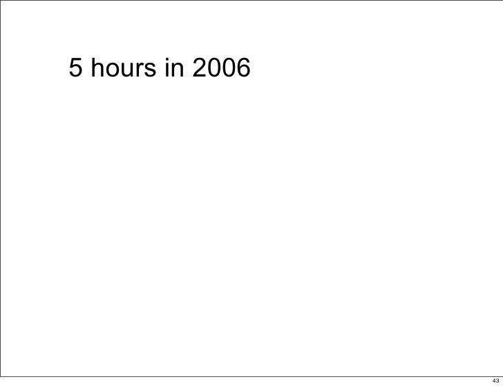 5 hours in 2006                       43                            43
