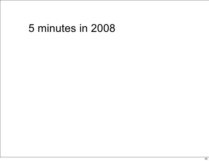 5 minutes in 2008                         46                              46