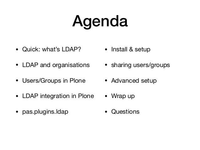 Plone pas.plugins.ldap user/group search Slide 3