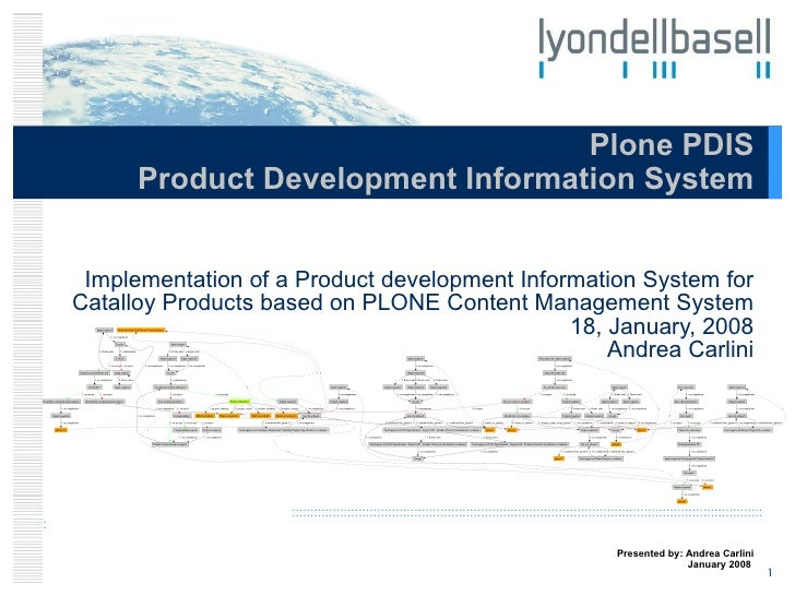 Implementation of a Product development Information System for Catalloy Products based on PLONE Content Management System ...