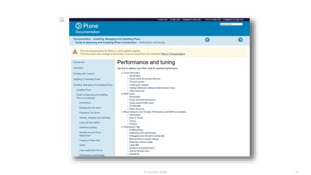 The state of Plone performance Slide 3