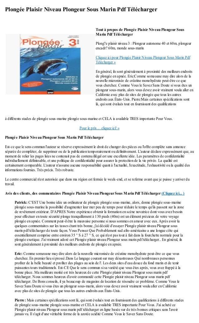 Plongée Plaisir Niveau Plongeur Sous Marin Pdf Téléchargerà différents stades de plongée sous-marine plongée sous-marine e...