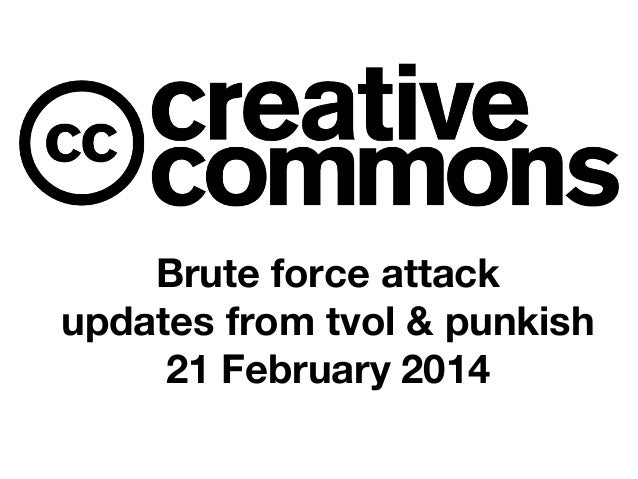 Brute force attack updates from tvol & punkish 21 February 2014