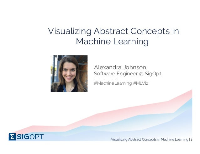 Visualizing Abstract Concepts in Machine Learning  PIC Alexandra Johnson ___________ Software Engineer @ SigOpt #MachineLe...