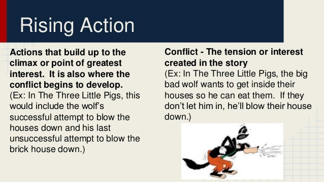 Plot Development Powerpoint on Exposition Of The Three Little Pigs