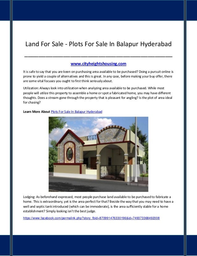 Land For Sale   Plots For Sale In Balapur Hyderabad