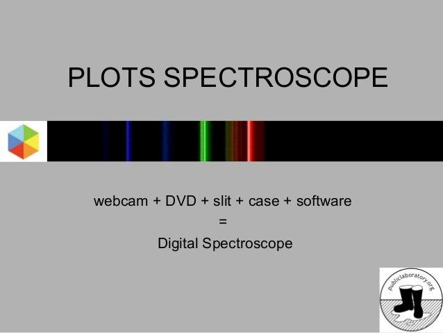 PLOTS SPECTROSCOPE webcam + DVD + slit + case + software                   =         Digital Spectroscope