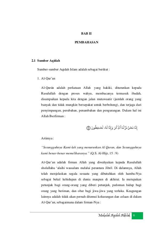 Makalah Aqidah Akhlak
