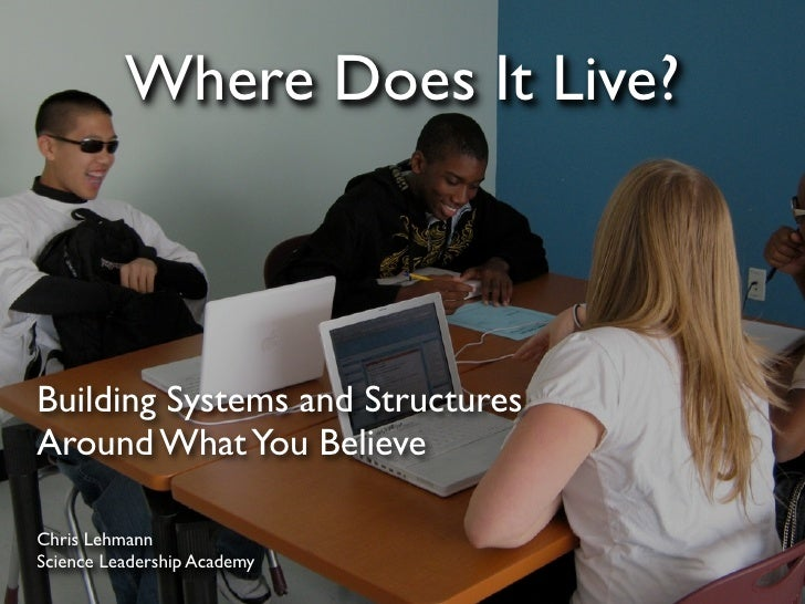 Where Does It Live?    Building Systems and Structures Around What You Believe  Chris Lehmann Science Leadership Academy
