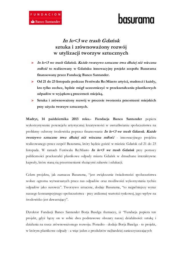 In lo<3 we trash Gdańsk  sztuka i zrównoważony rozwój w utylizacji tworzyw sztucznych > In lo<3 we trash Gdańsk. Każde two...