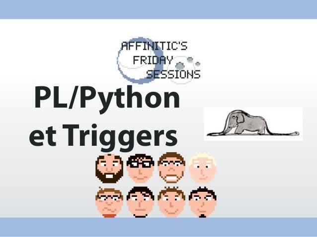 PL/Python et Triggers