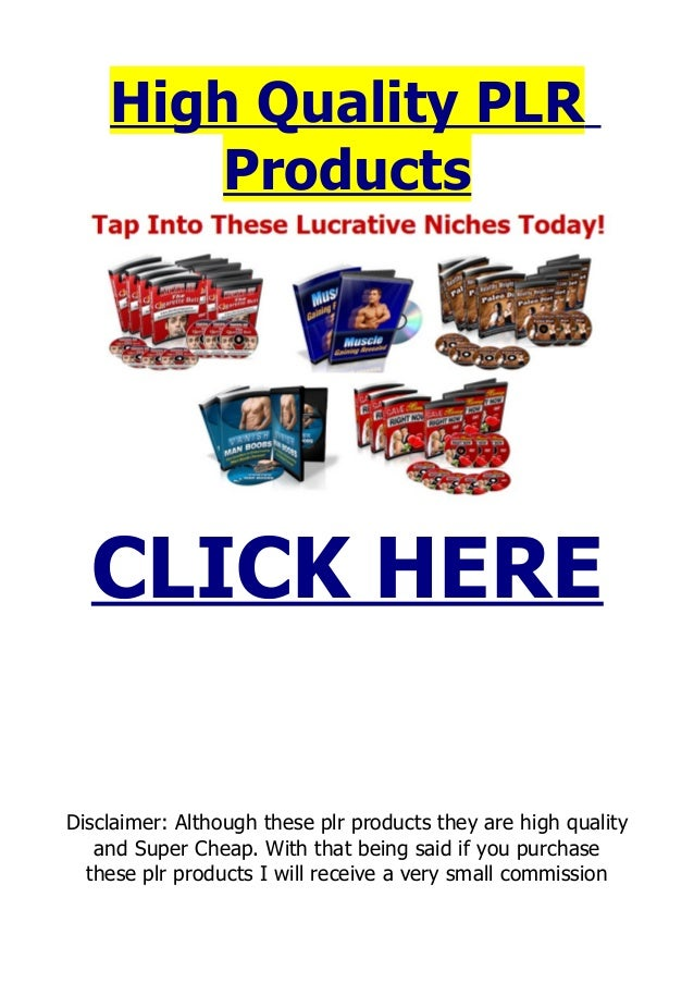 Plr Products High Quality Plr Ebooks With Sales Page And