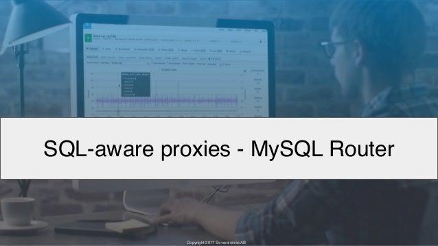 Copyright 2017 Severalnines AB Copyright 2017 Severalnines AB SQL-aware proxies - MySQL Router