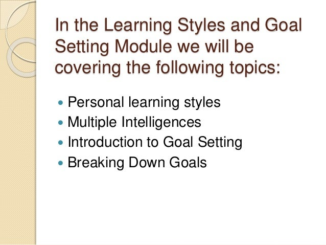 personal learning style Personal learning styles - personal learning styles are highly complex and unique to specific individuals it is often difficult to pinpoint an exact learning style.
