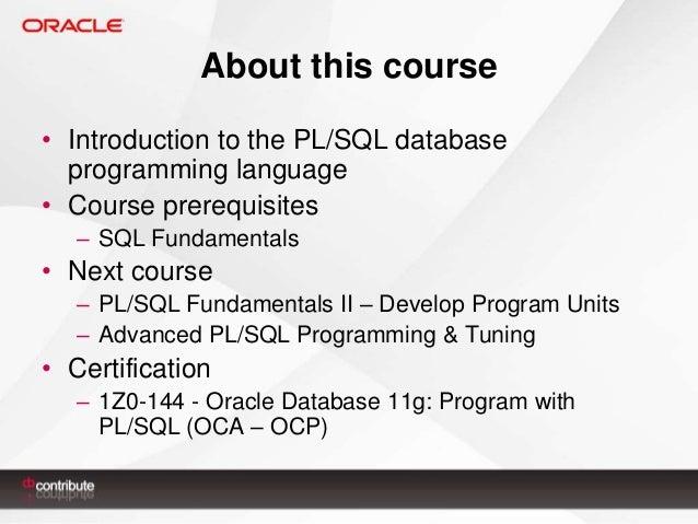 PL/SQL Fundamentals I Slide 3