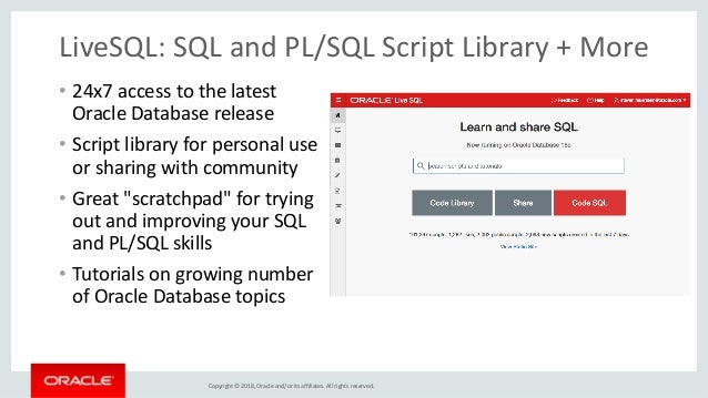 Oracle PL/SQL 12c and 18c New Features + RADstack + Community Sites