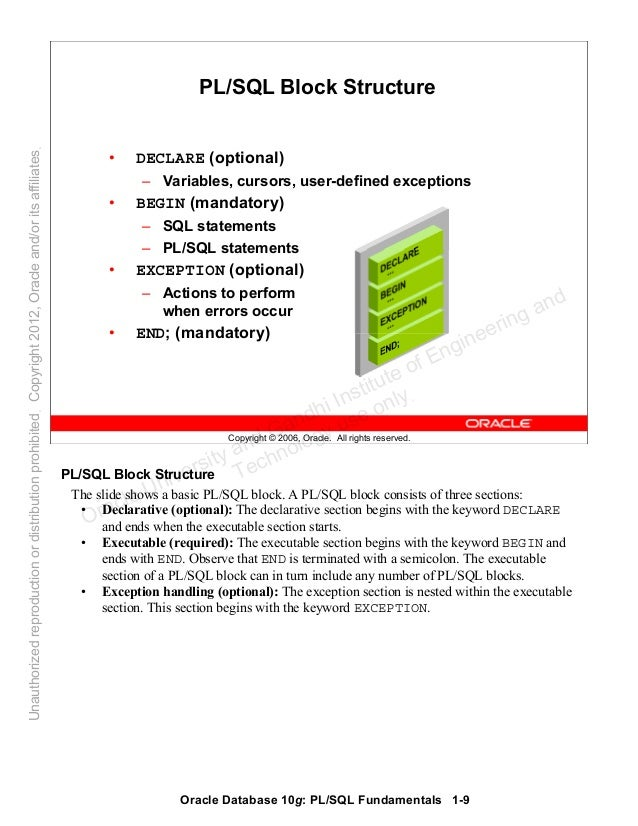 pl sql student guide v 1 rh slideshare net pl sql developer user guide oracle® database pl/sql user's guide and reference