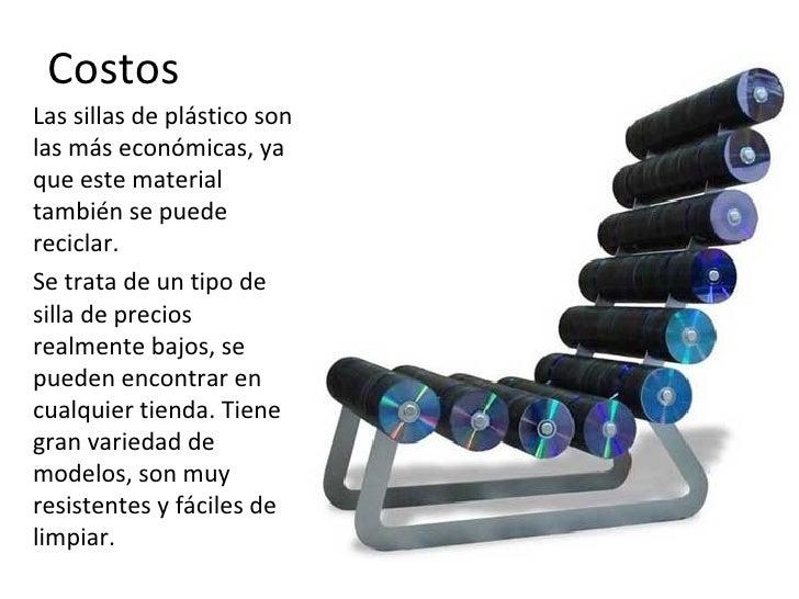 Tipos de plasticos for Sillas de plastico precio