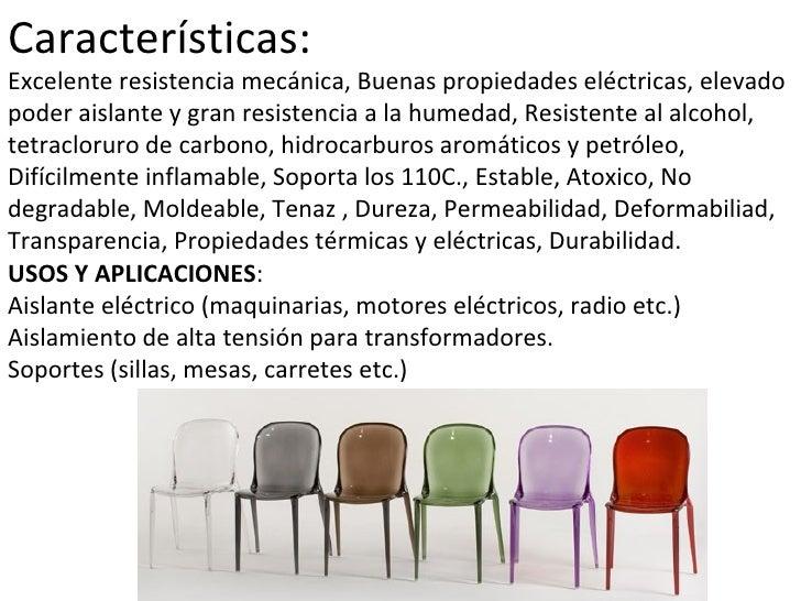 Tipos de plasticos for Sillas de plastico