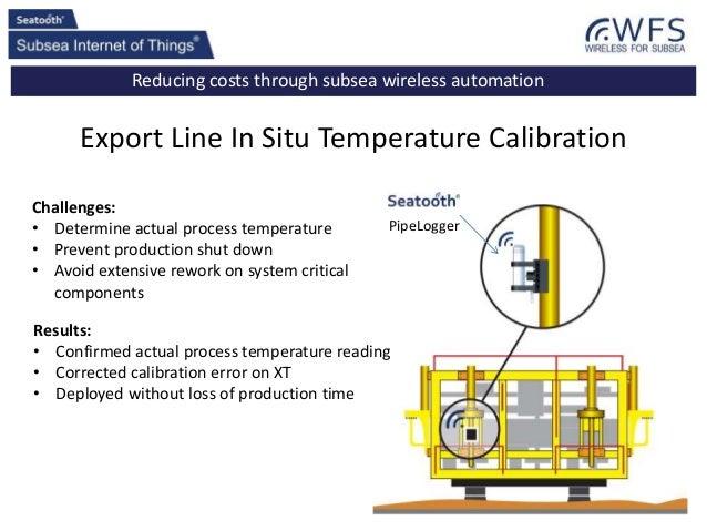 Reducing costs through subsea wireless automation Export Line In Situ Temperature Calibration Challenges: • Determine actu...