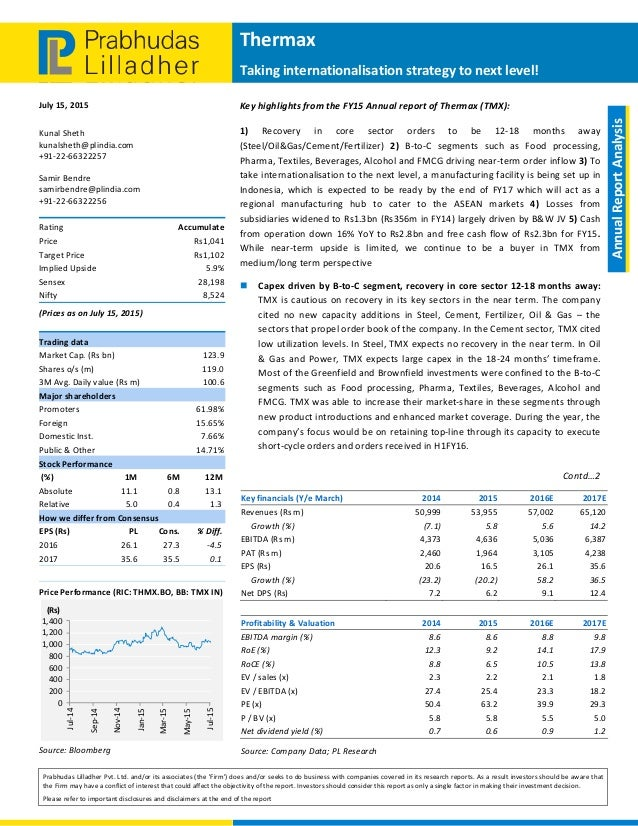 Thermax: Near-term upside limited, accumulate for mid- to
