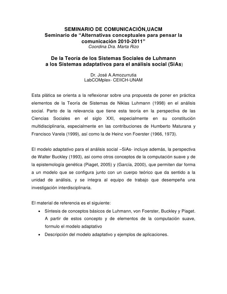 """SEMINARIO DE COMUNICACIÓN,UACM       Seminario de """"Alternativas conceptuales para pensar la                     comunicaci..."""