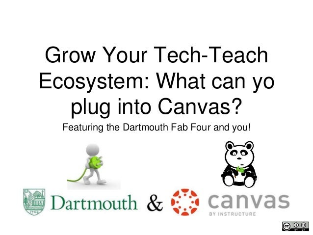 Grow Your Tech-Teach Ecosystem: What can yo plug into Canvas? Featuring the Dartmouth Fab Four and you!