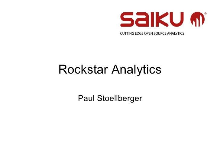Rockstar Analytics   Paul Stoellberger