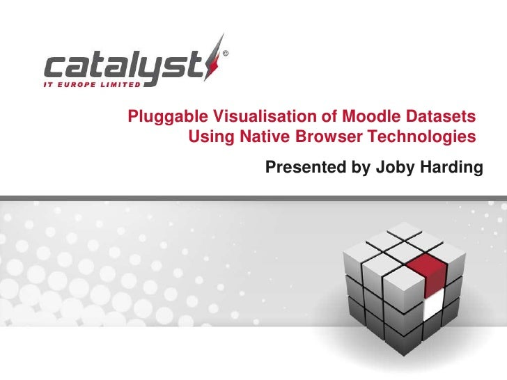 Pluggable Visualisation of Moodle Datasets      Using Native Browser Technologies                Presented by Joby Harding