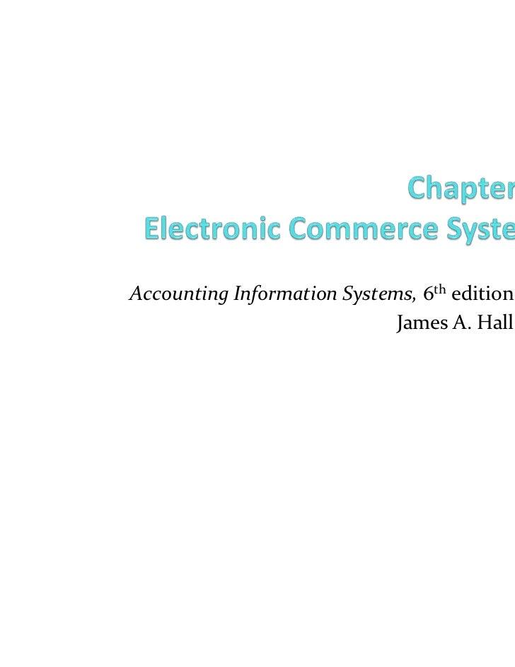 AccountingInformationSystems, 6th edition                                  JamesA.HallCOPYRIGHT © 2009 South-Western, ...