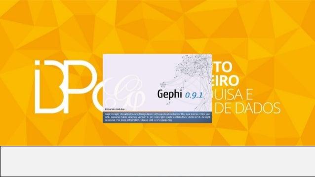 Se essa tela aparecer, provavelmente a instalação foi bem sucedida, agora é a hora de instalar os plugi-ins do Gephi.