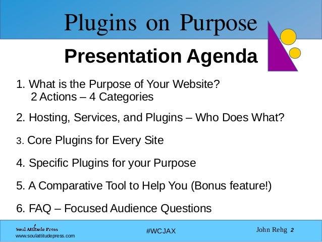 Plugins on Purpose Slide 2