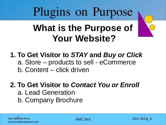 Plugins on Purpose Slide 3