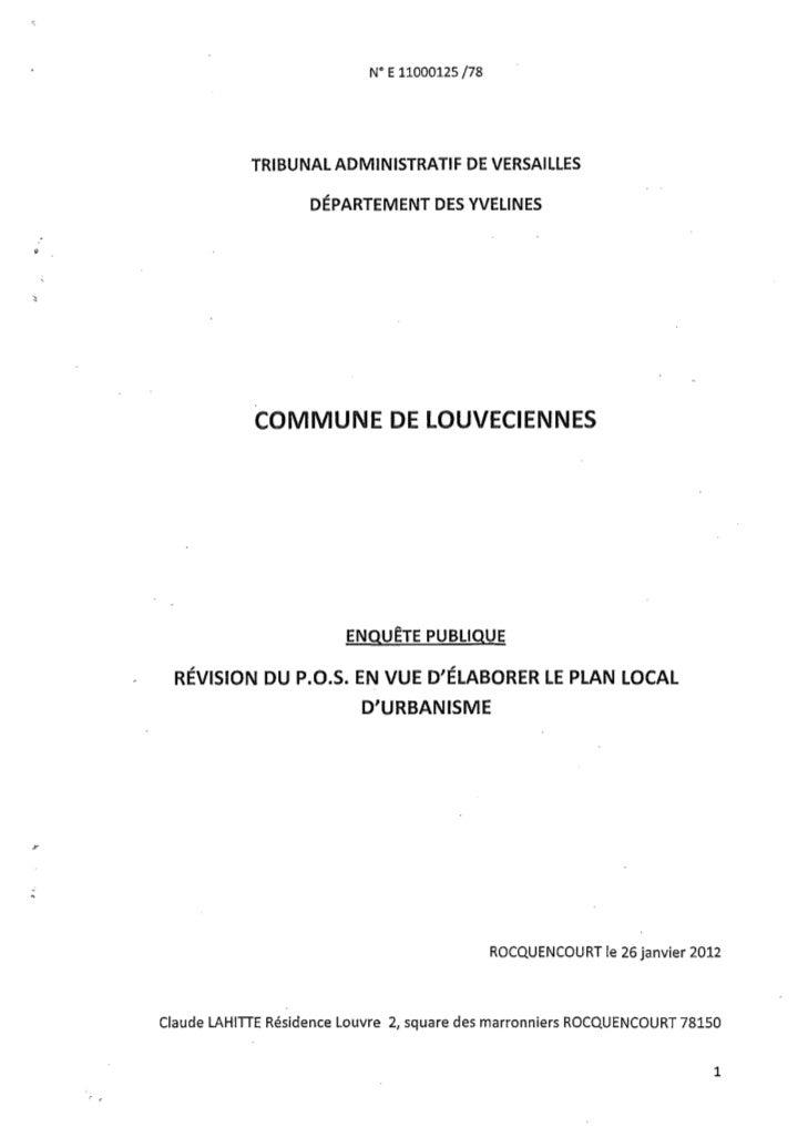 """N"""" E 11000125 /78                    TRIBUNAL ADMINISTRATIF DE VERSAILLES                            DÉPARTEMENT DES YVELI..."""