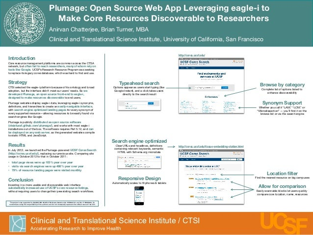 Plumage: Open Source Web App Leveraging eagle-i to!                                                                       ...