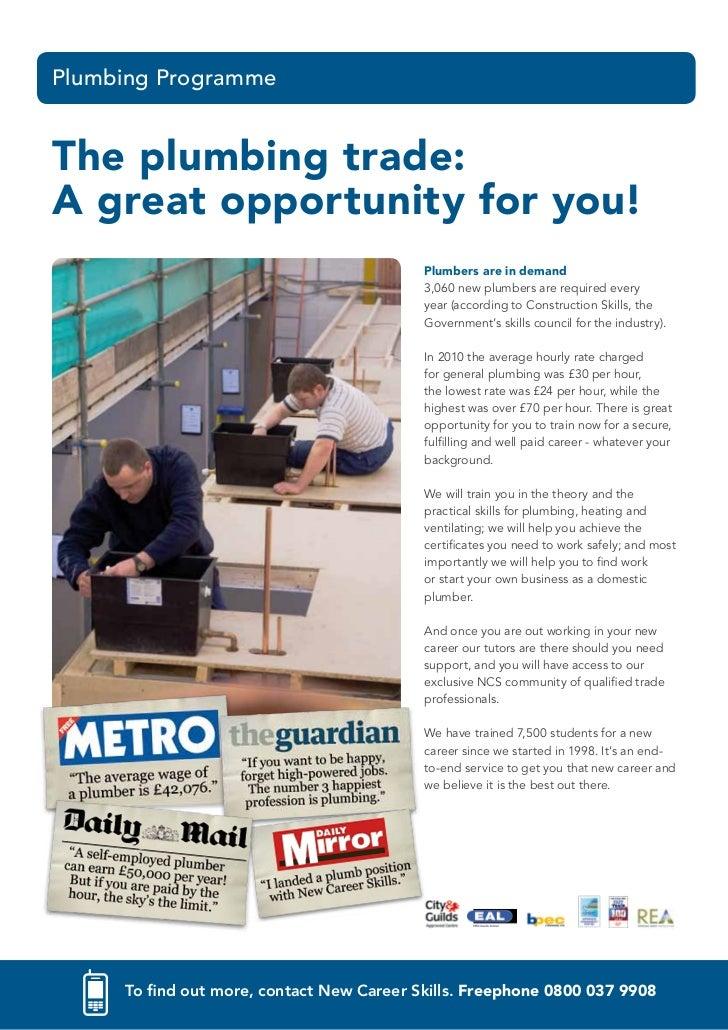 Plumbing Career Training Courses Brochure