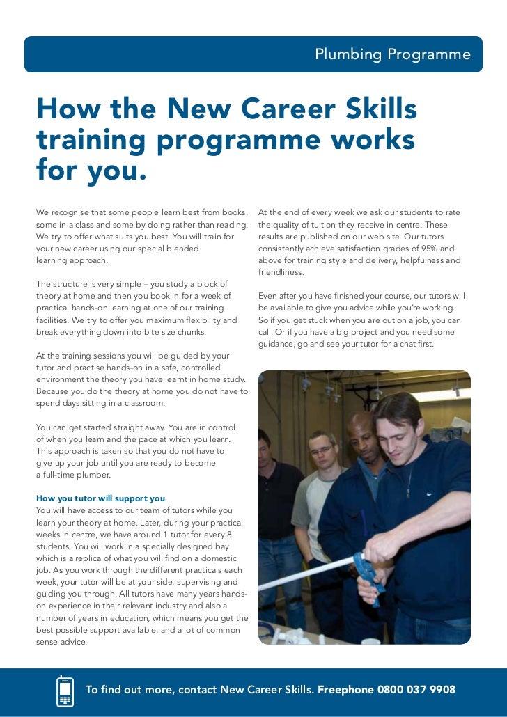 Plumbing ProgrammeHow The New Career