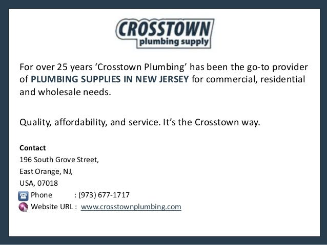 Plumbing Supply In New Jersey For All Your Plumbing Needs More