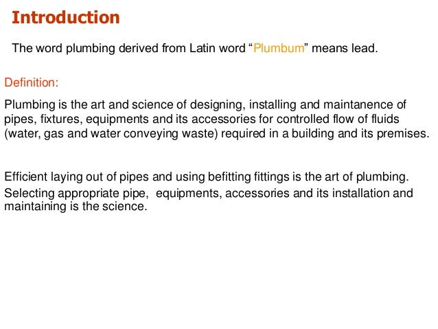 Plumbing System For Training 22012017